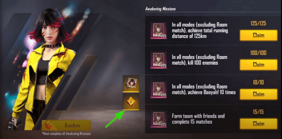 what is the use of awakening shard in free fire